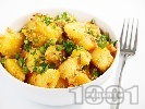 Рецепта Картофи с грах и сусам